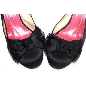 kate spade Shoes - Kate Spade Satin Bow Round Toe Sling Back Heel